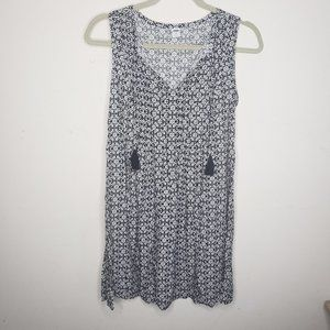 Old Navy Black and White Floral Summer Dress XS